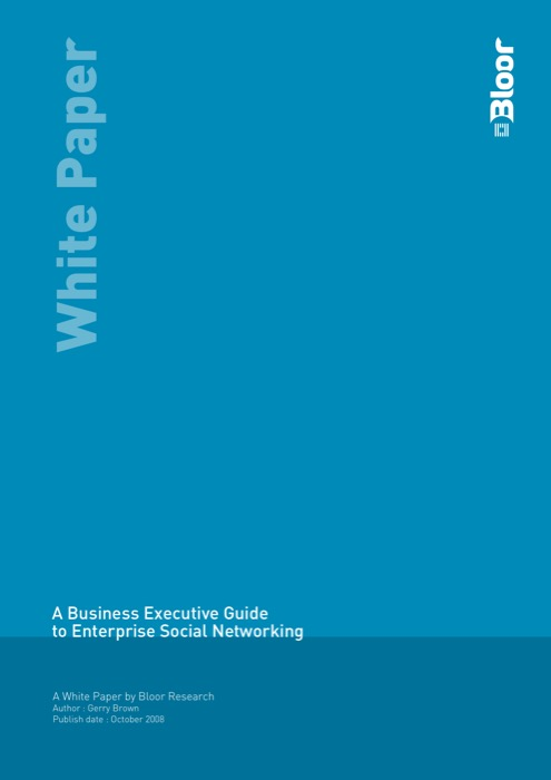 Cover for A Business Executive Guide to Enterprise Social Networking