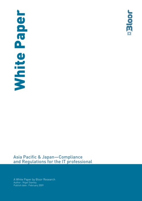 Cover for Asia Pacific & Japan - Compliance and Regulations for the IT professional