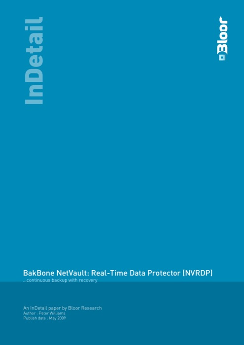 Cover for BakBone NetVault: Real-Time Data Protector