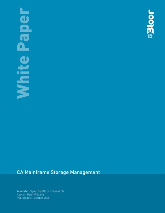 Cover for CA Mainframe Storage Management