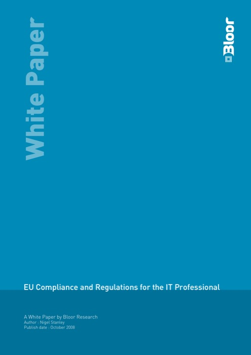 Cover for EU Compliance and Regulations for the IT Professional