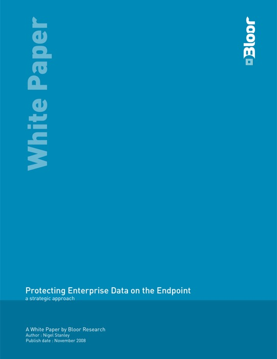 Cover for Protecting Enterprise Data on the Endpoint