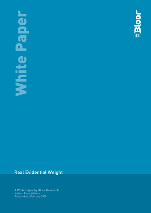 Cover for Real Evidential Weight