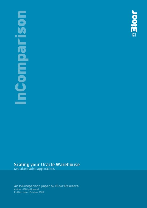 Cover for Scaling your Oracle Warehouse