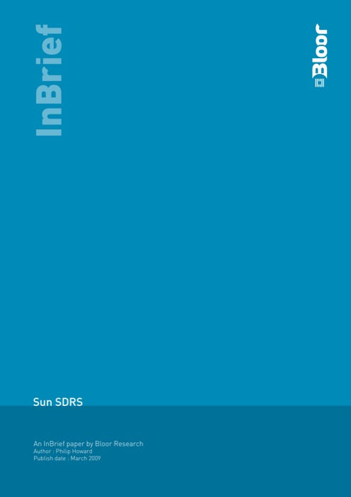 Cover for Sun SDRS
