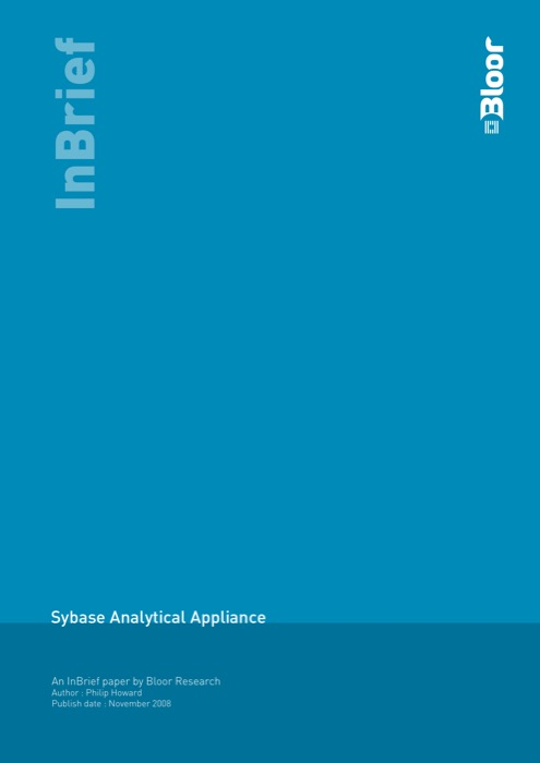 Cover for Sybase Analytical Appliance
