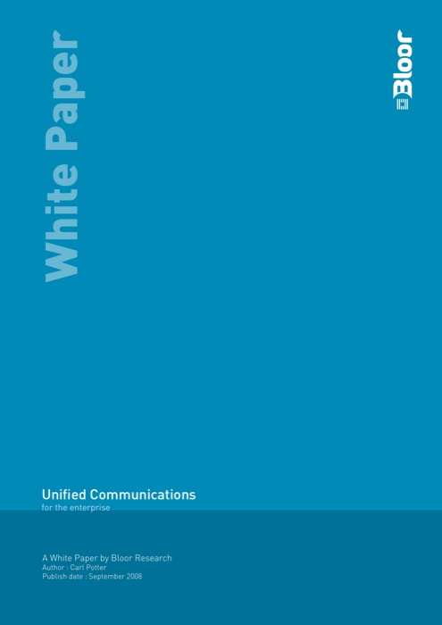 Cover for Unified Communications