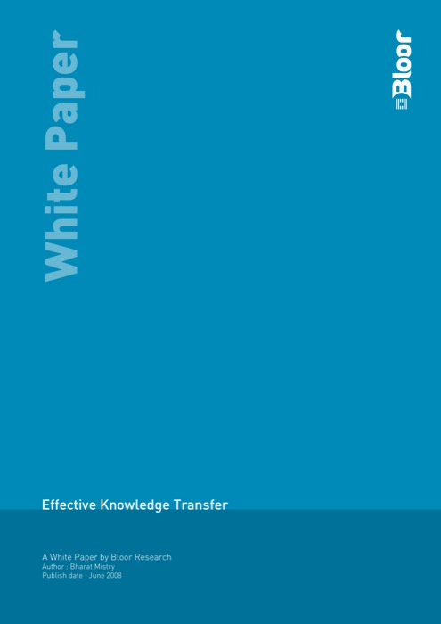 Cover for Effective Knowledge Transfer