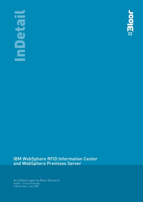 Cover for IBM WebSphere RFID Information Center and WebSphere Premises Server