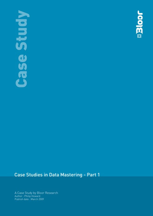Cover for Case Studies in Data Mastering - Part 1