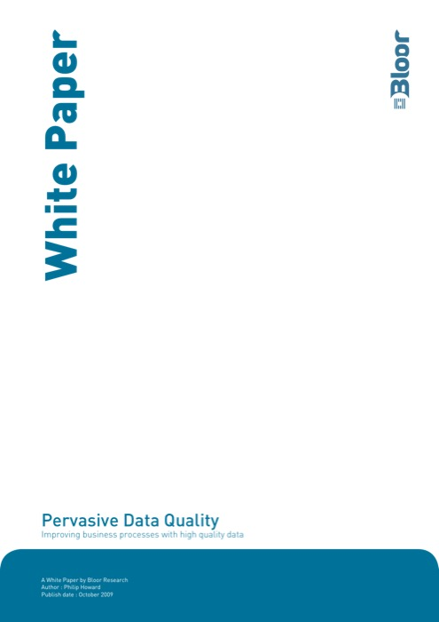 Cover for Pervasive Data Quality