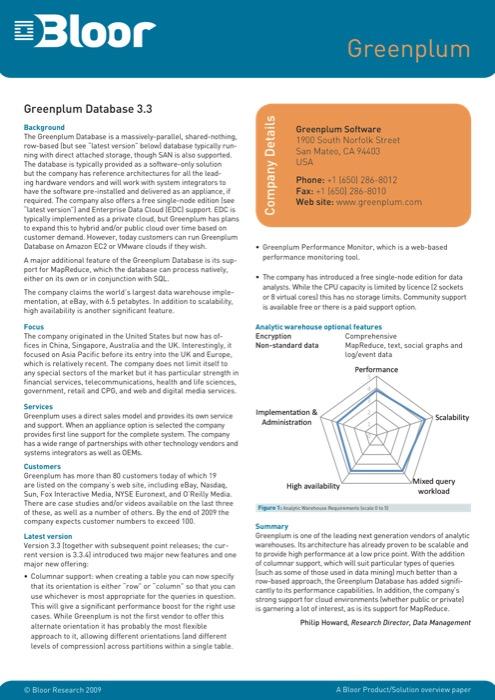 Cover for Greenplum Database 3.3