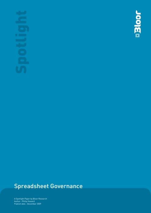 Cover for Spreadsheet Governance