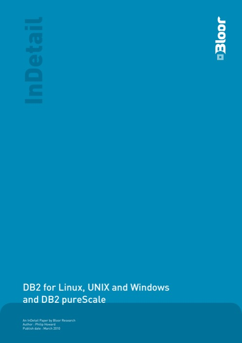 Cover for DB2 for Linux, UNIX and Windows and DB2 pureScale