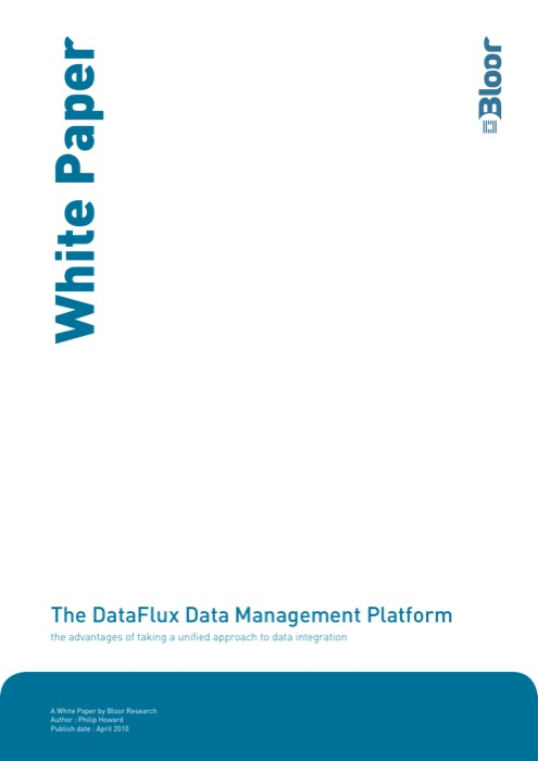 Cover for The DataFlux Data Management Platform