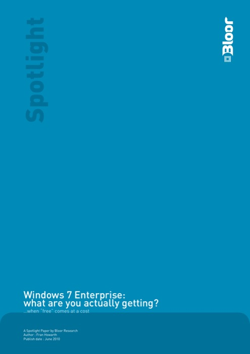 Cover for Windows 7 Enterprise: what are you actually getting?