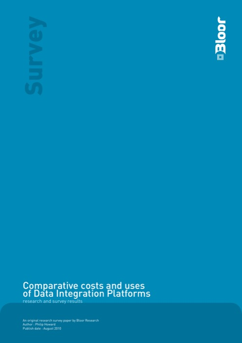 Cover for Comparative costs and uses of Data Integration Platforms