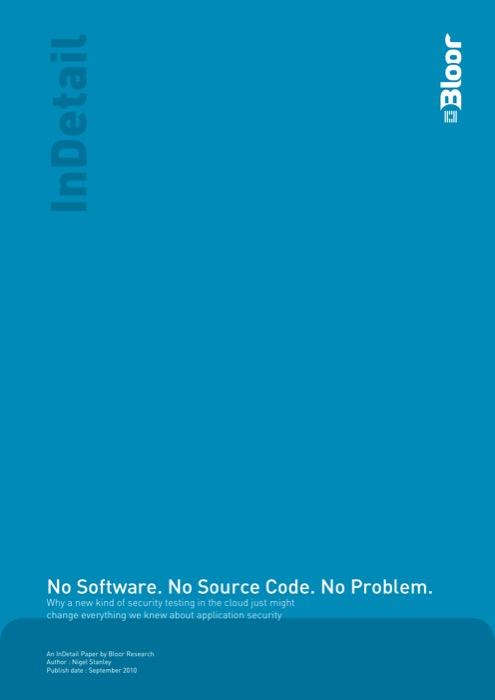 Cover for No Software. No Source Code. No Problem.