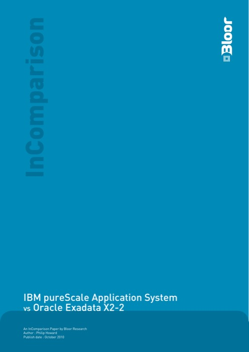 Cover for IBM pureScale Application System vs Oracle Exadata X2-2