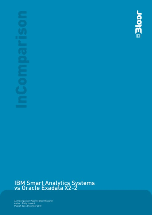 Cover for IBM Smart Analytics Systems