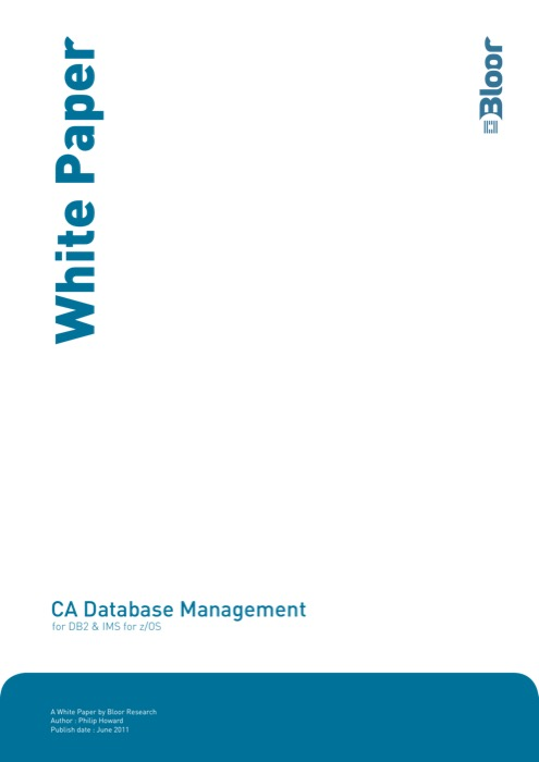 Cover for CA Database Management
