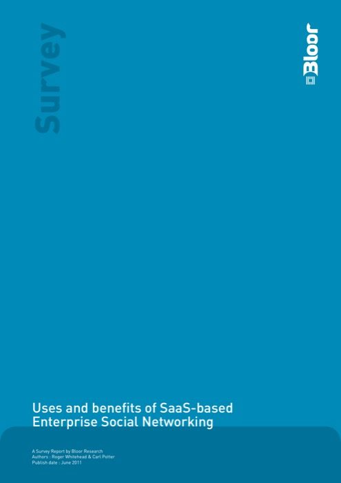 Cover for Uses and benefits of SaaS-based Enterprise Social Networking