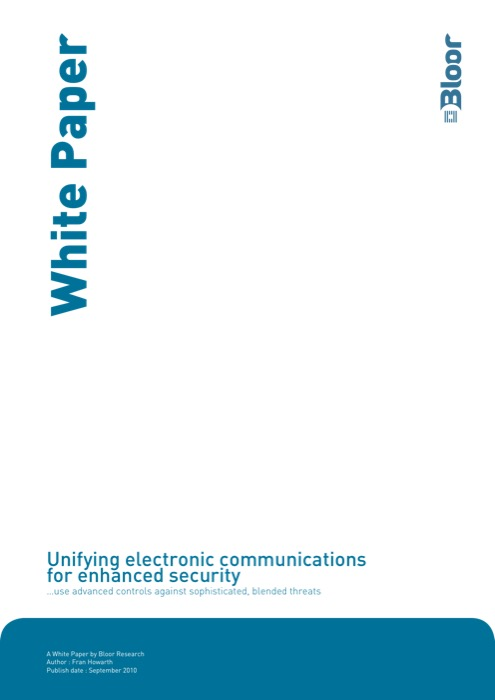 Cover for Unifying electronic communications for enhanced security