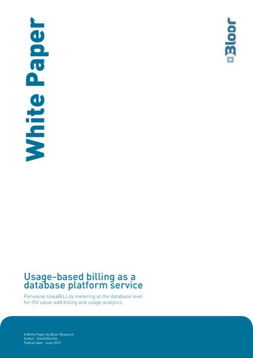 Cover for Usage-based billing as a database platform service