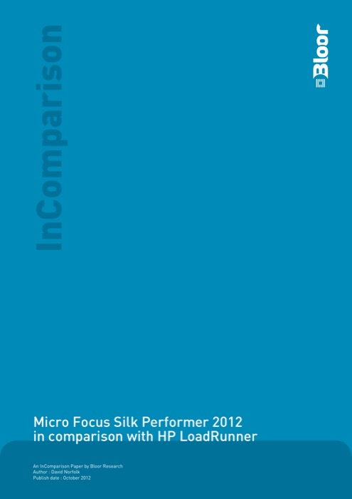 Cover for Micro Focus Silk Performer 2012