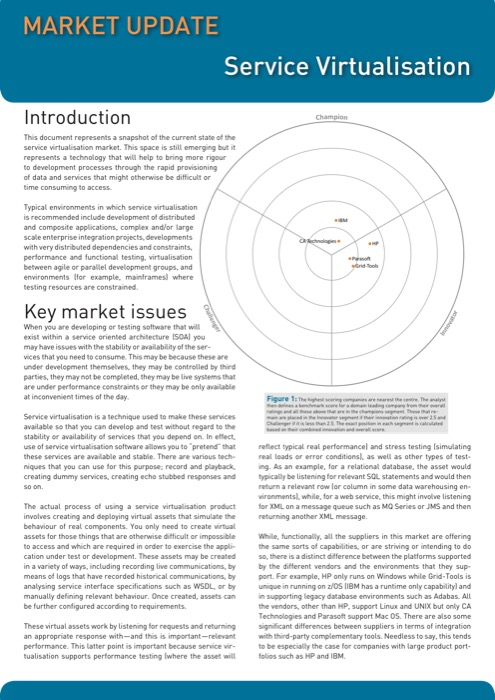 Cover for Service Virtualisation Market Update