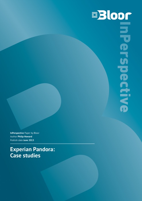 experian pandora case studies bloor research cover for experian pandora case studies