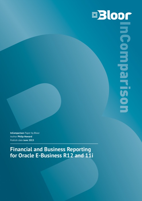 Cover for Financial and Business Reporting for Oracle E-Business R12 and 11i