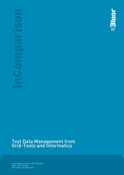 Cover for Test Data Management from Grid-Tools and Informatica