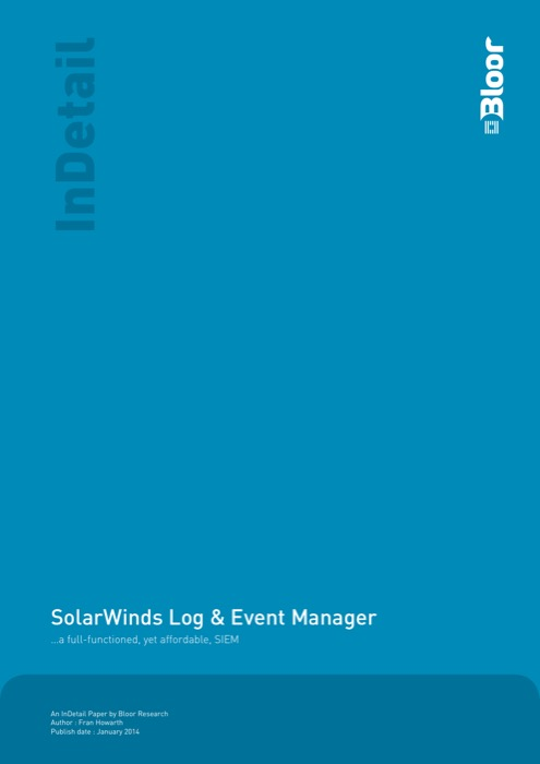Cover for SolarWinds Log & Event Manager