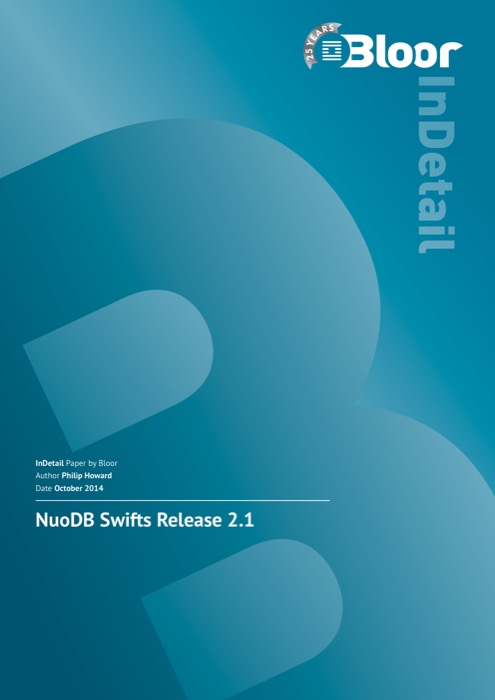 Cover for NuoDB Swifts Release 2.1