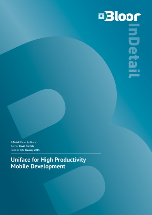Cover for Uniface for High Productivity Mobile Development