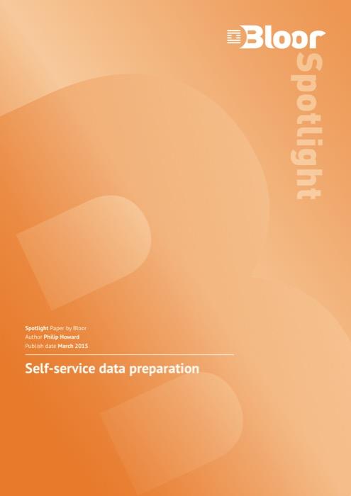 Cover for Self-service data preparation