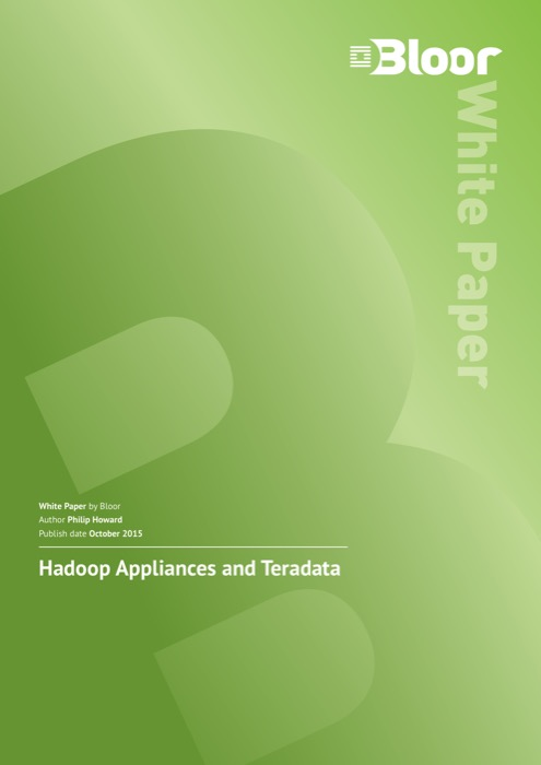 Cover for Hadoop Appliances and Teradata