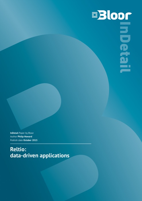 Cover for Reltio: data-driven applications