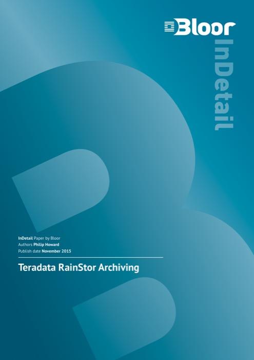 Cover for Teradata RainStor Archiving