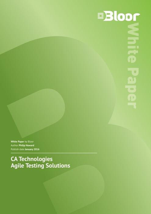 Cover for CA Technologies – Agile Testing Solutions