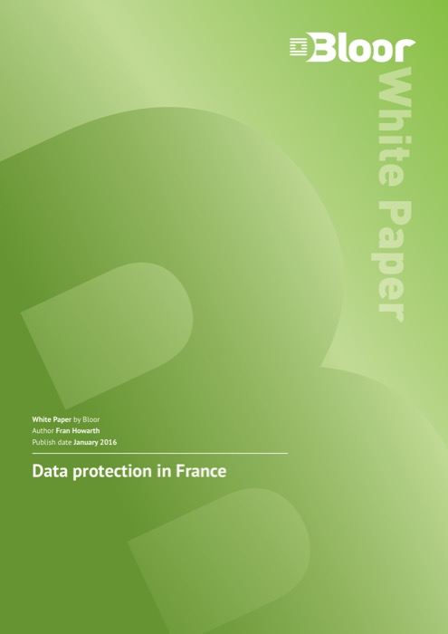Cover for Data protection in France