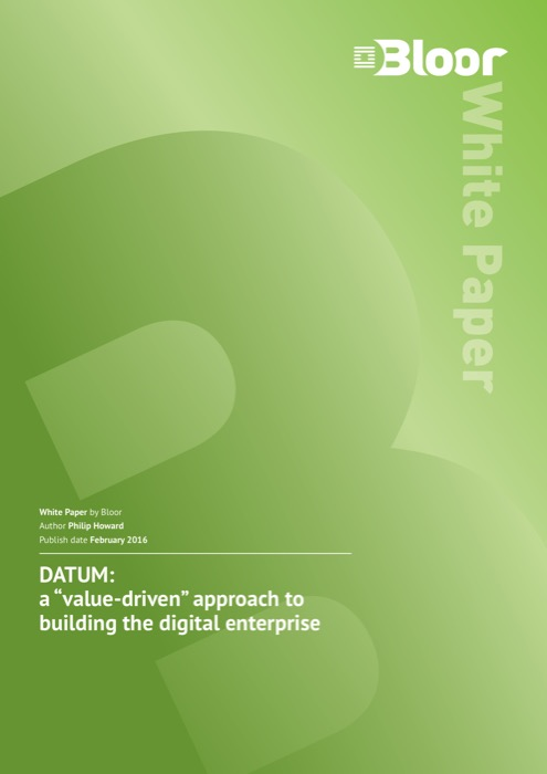 Cover for DATUM - a value-driven approach to building the digital enterprise
