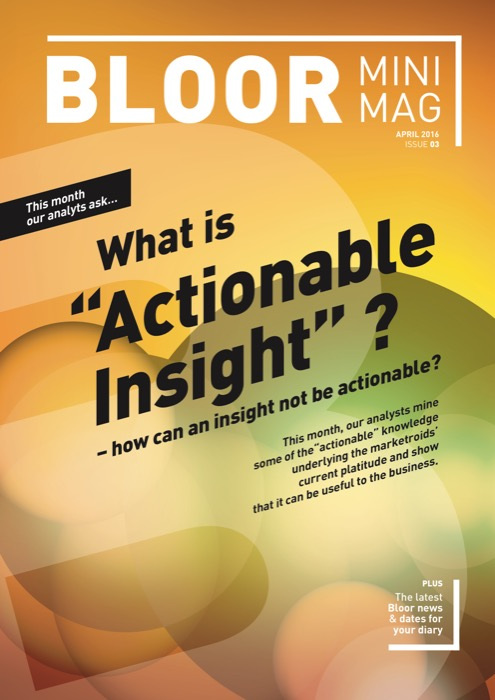 Cover for MiniMag Issue #3 – April 2016 - Actionable Insight