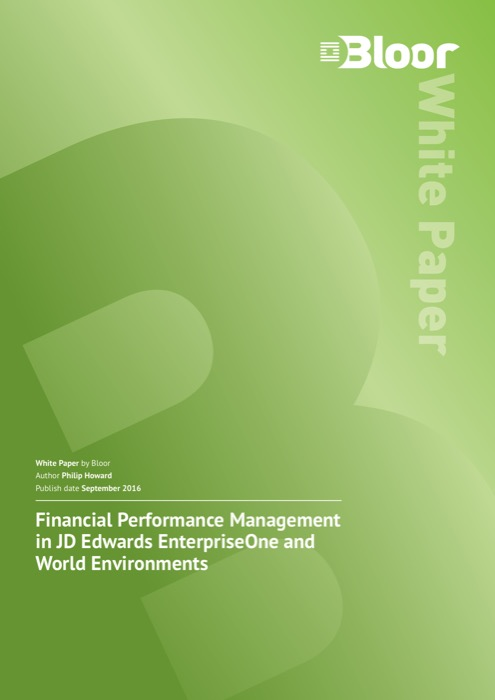 Cover for Financial Performance Management in JD Edwards EnterpriseOne and World Environments