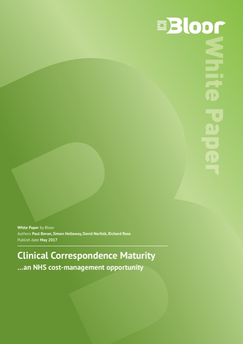Cover for Clinical Correspondence Maturity
