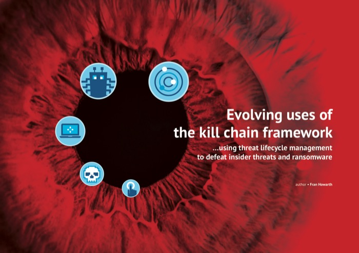 Cover for Evolving uses of the kill chain framework - using threat lifecycle management to defeat insider threats and ransomware