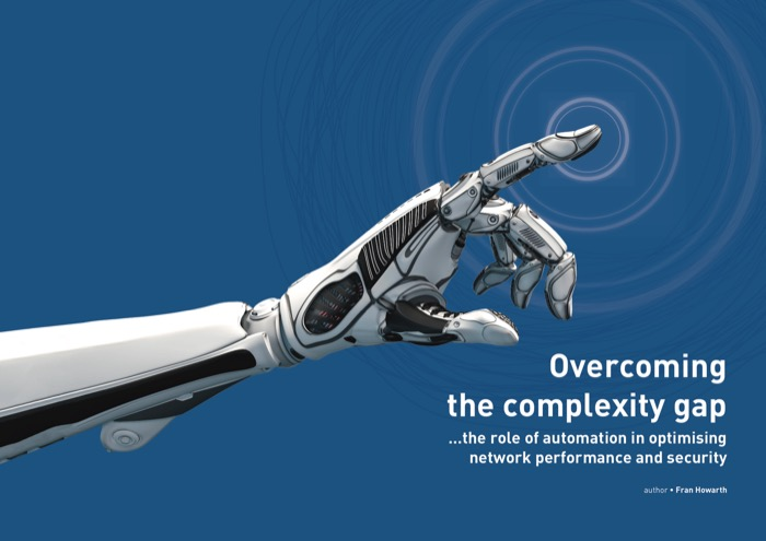Cover for Overcoming the complexity gap - the role of automation in optimising network performance and security