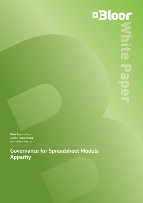 Cover for Governance for Spreadsheet Models Apparity