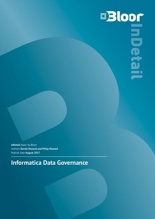 Cover for Informatica Data Governance